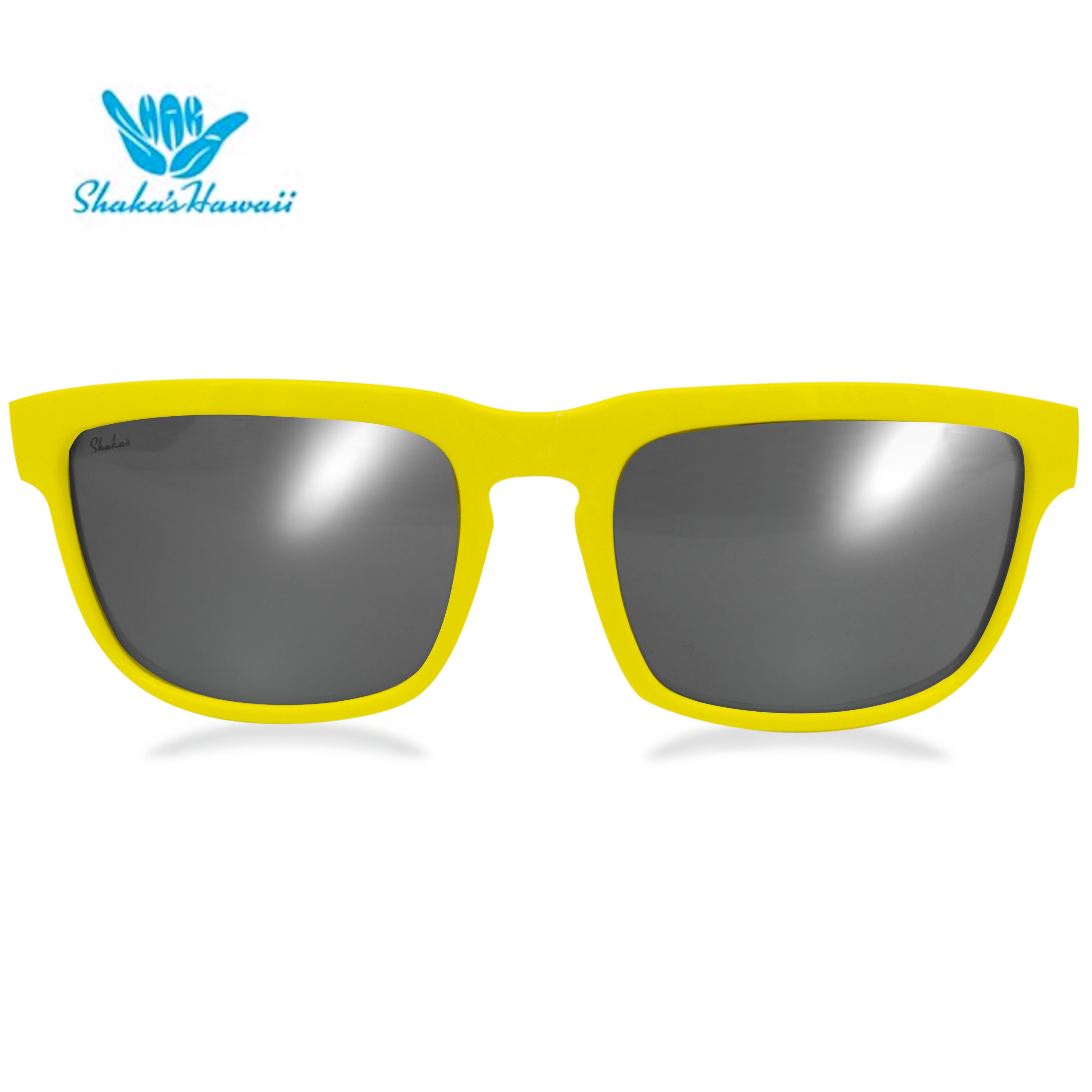 Bruno(ブルーノ)イエロー(レンズシルバー、つるイエロー)Shaka's Hawaii Sunglasses(シャカサングラス)