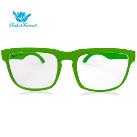 Bruno(ブルーノ)グリーン(レンズクリア、つるグリーン)Shaka's Hawaii Sunglasses(シャカサングラス)