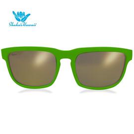 Bruno(ブルーノ)グリーン(レンズゴールド、つるグリーン)Shaka's Hawaii Sunglasses(シャカサングラス)