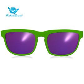 Bruno(ブルーノ)グリーン(レンズパープル、つるグリーン)Shaka's Hawaii Sunglasses(シャカサングラス)