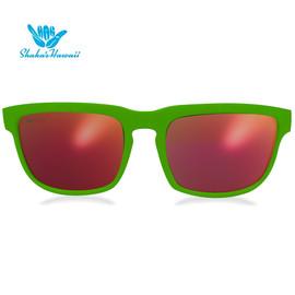Bruno(ブルーノ)グリーン(レンズレッド、つるグリーン)Shaka's Hawaii Sunglasses(シャカサングラス)