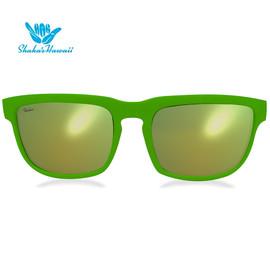 Bruno(ブルーノ)グリーン(レンズイエロー、つるグリーン)Shaka's Hawaii Sunglasses(シャカサングラス)