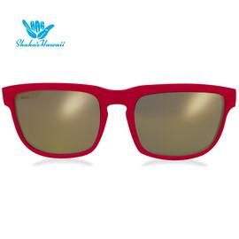 Bruno(ブルーノ)レッド(レンズゴールド、つるレッド)Shaka's Hawaii Sunglasses(シャカサングラス)