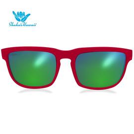 Bruno(ブルーノ)レッド(レンズグリーン、つるレッド)Shaka's Hawaii Sunglasses(シャカサングラス)