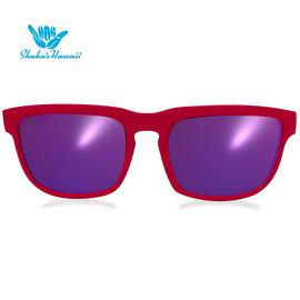 Bruno(ブルーノ)レッド(レンズパープル、つるレッド)Shaka's Hawaii Sunglasses(シャカサングラス)