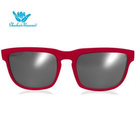 Bruno(ブルーノ)レッド(レンズシルバー、つるレッド)Shaka's Hawaii Sunglasses(シャカサングラス)