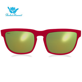 Bruno(ブルーノ)レッド(レンズイエロー、つるレッド)Shaka's Hawaii Sunglasses(シャカサングラス)