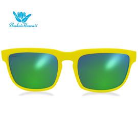 Bruno(ブルーノ)イエロー(レンズグリーン、つるイエロー)Shaka's Hawaii Sunglasses(シャカサングラス)