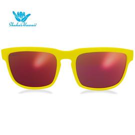 Bruno(ブルーノ)イエロー(レンズレッド、つるイエロー)Shaka's Hawaii Sunglasses(シャカサングラス)